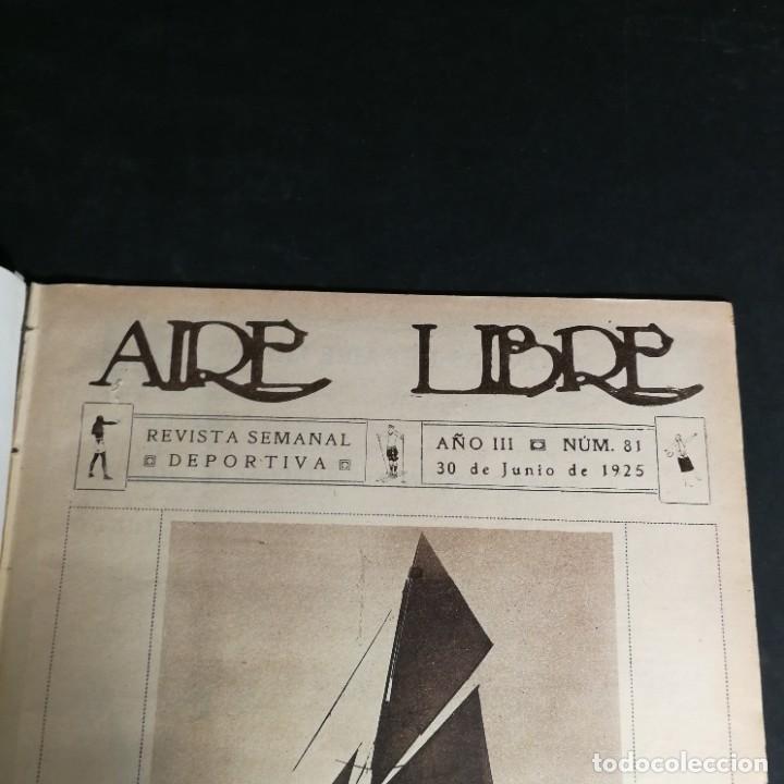 Coleccionismo deportivo: Revista Deportes Aire Libre Nº 81 1925 Ciclismo Motociclismo Hípica - Foto 3 - 268571809