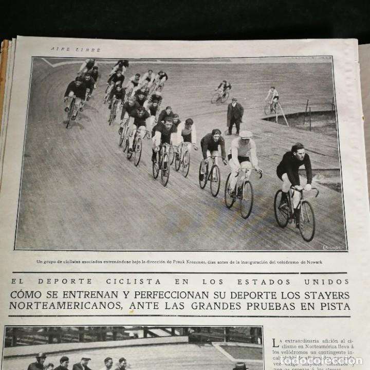 Coleccionismo deportivo: Revista Deportes Aire Libre Nº 81 1925 Ciclismo Motociclismo Hípica - Foto 4 - 268571809