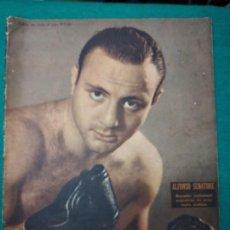 Coleccionismo deportivo: REVISTA EL GRAFICO Nº1351 1 DE JUNIO DE 1945 BUENOS AIRES. ALFONSO SENATORE EN PORTADA.. Lote 268592949