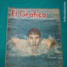 Coleccionismo deportivo: REVISTA EL GRAFICO Nº1436 17 DE ENERO DE 1947 BUENOS AIRES.CARLOS ESPEJO PEREZ EN PORTADA. Lote 268599854