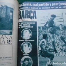 Coleccionismo deportivo: LOTE BARCA 128 EJEMPLARES AÑO 1968-1970 NUMEROS DEL 647 AL 775 ERROR IMPRENTA VARIAS. Lote 269073828