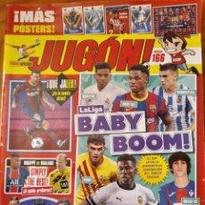 Coleccionismo deportivo: JUGON Nº 166 - LIGA 2020 -POSTER: VINICIUS, JOAO FELIX, PLANTILLA FC BARCELONA, OYARZABAL REAL SOCIE. Lote 269117778