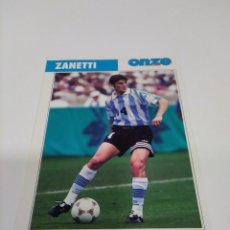 Coleccionismo deportivo: FICHA ONZE MONDIAL ZANETTI - ARGENTINA.. Lote 269455148