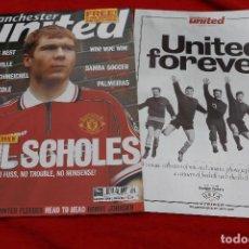 Coleccionismo deportivo: MANCHESTER UNITED MAGAZINE JANUARY 2000 + SOUVENIR 16 PAGE RARE UNITED PHOTOS (REVISTA ENERO 2000). Lote 269470898
