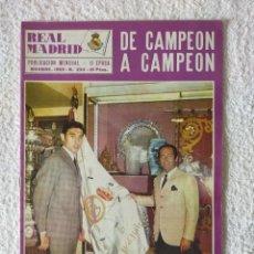 Coleccionismo deportivo: REVISTA REAL MADRID - II EPOCA / Nº 234 / NOVIEMBRE 1969 - GENTO Y EDDY MERCKX. Lote 269817868