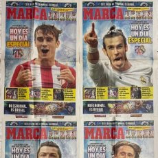 Coleccionismo deportivo: 4 PORTADAS DEL DIARIO MARCA DÍA 19 NOVIEMBRE 2016 DERBI ATLÉTICO MADRID - -REAL MADRID. Lote 269935023