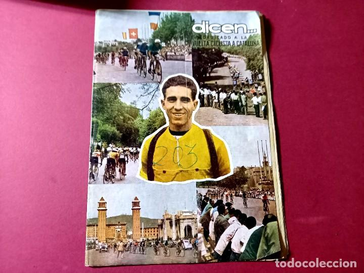 DICEN Nº 203 DEDICADO A LA VUELTA CICLISTA DE CATALUÑA - 1956-VER FOTOS (Coleccionismo Deportivo - Revistas y Periódicos - otros Fútbol)