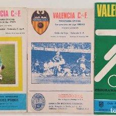 Coleccionismo deportivo: VALENCIA CLUB DE FUTBOL - TRES PROGRAMA OFICIAL CAMPEONATO DE LIGA 73-74; 78-79; Y 82-83. Lote 270165203