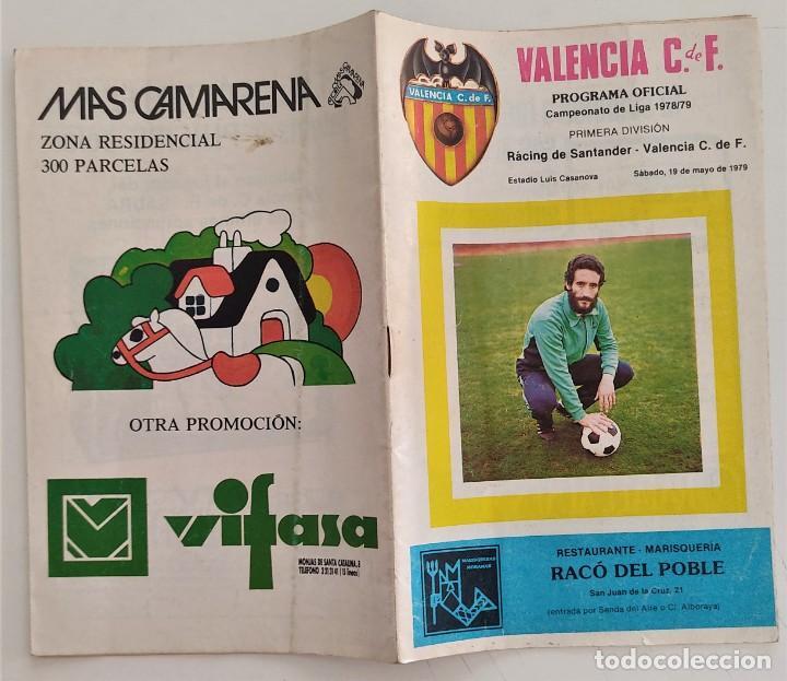 Coleccionismo deportivo: VALENCIA CLUB DE FUTBOL - TRES PROGRAMA OFICIAL CAMPEONATO DE LIGA 73-74; 78-79; Y 82-83 - Foto 2 - 270165203