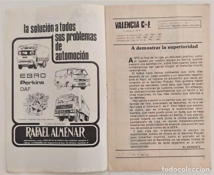 Coleccionismo deportivo: VALENCIA CLUB DE FUTBOL - TRES PROGRAMA OFICIAL CAMPEONATO DE LIGA 73-74; 78-79; Y 82-83 - Foto 3 - 270165203