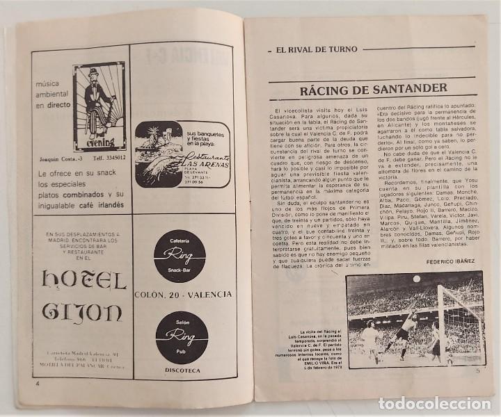 Coleccionismo deportivo: VALENCIA CLUB DE FUTBOL - TRES PROGRAMA OFICIAL CAMPEONATO DE LIGA 73-74; 78-79; Y 82-83 - Foto 4 - 270165203