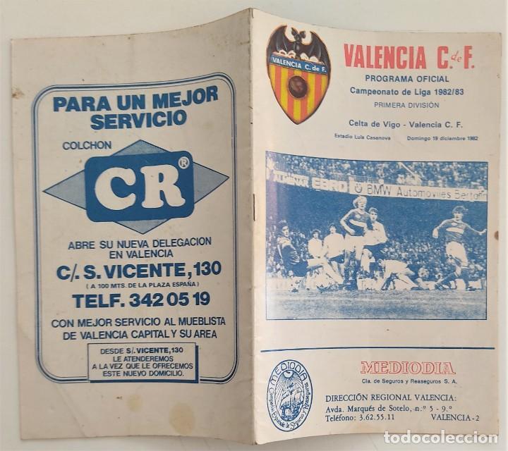 Coleccionismo deportivo: VALENCIA CLUB DE FUTBOL - TRES PROGRAMA OFICIAL CAMPEONATO DE LIGA 73-74; 78-79; Y 82-83 - Foto 6 - 270165203