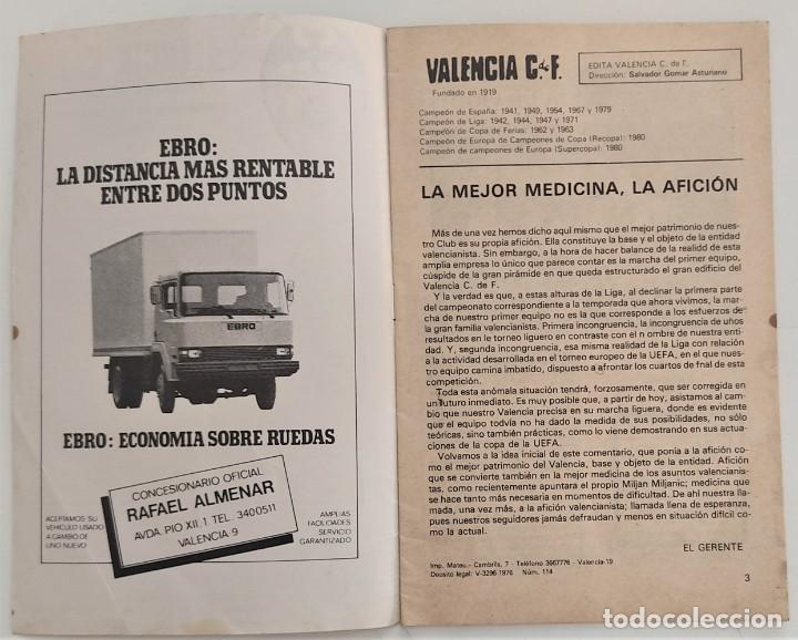 Coleccionismo deportivo: VALENCIA CLUB DE FUTBOL - TRES PROGRAMA OFICIAL CAMPEONATO DE LIGA 73-74; 78-79; Y 82-83 - Foto 7 - 270165203