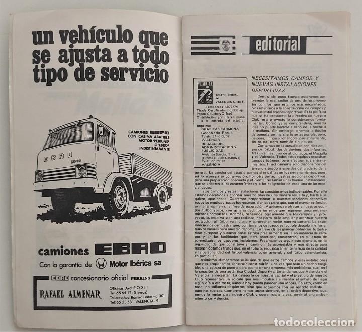 Coleccionismo deportivo: VALENCIA CLUB DE FUTBOL - TRES PROGRAMA OFICIAL CAMPEONATO DE LIGA 73-74; 78-79; Y 82-83 - Foto 12 - 270165203