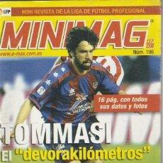 Coleccionismo deportivo: MINIMAG 2007 2008 Nº 196 TOMASSI DEL LEVANTE, EL¨¨ DEVORAKILOMETROS¨¨. Lote 271949538