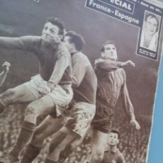 Coleccionismo deportivo: PRECIOSA REVISTA MIROIR DES SPORTS FUTBOL FRANCIA ESPAÑA 1958 DI STEFANO CICLISMO PERFECTA CONSERVAC. Lote 274585058