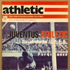 Coleccionismo deportivo: ATHLETIC CLUB BILBAO N° 104 (1977). REVISTA OFICIAL. ATHLETIC - JUVENTUS FINAL UEFA, DERBY VS REAL. Lote 276404713