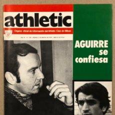 Coleccionismo deportivo: ATHLETIC CLUB BILBAO N° 105 (1977). REVISTA OFICIAL. PREVIA FINAL UEFA, KOLDO AGUIRRE, ALESANCO,…. Lote 276405213