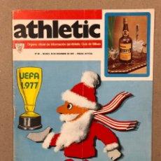 Coleccionismo deportivo: ATHLETIC CLUB BILBAO N° 88 (1976). REVISTA OFICIAL. POSTER PLANTILLA 76/77, TODOS LOS GOLES DE 1976,. Lote 276472108