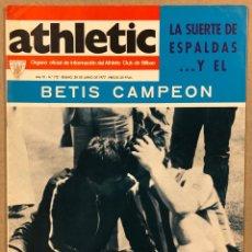 Coleccionismo deportivo: ATHLETIC CLUB BILBAO N° 112 (1977). REVISTA OFICIAL. ESPECIAL FINAL COPA VS REAL BETIS.. Lote 276482538