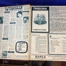 Collezionismo sportivo: BARCA BARÇA AÑO XI Y AÑO XII, 40 REVISTAS, 1965 NUMERO 508 AL 548. Lote 276676773