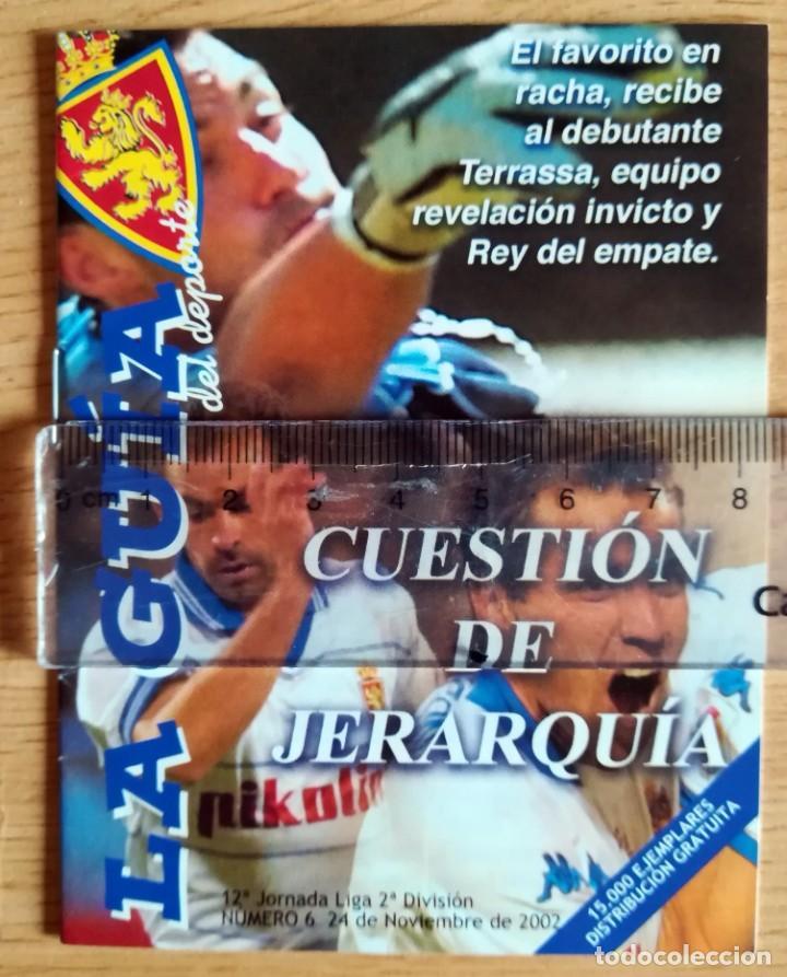 LA GUIA PROGRAMA PARTIDO LA ROMAREDA REAL ZARAGOZA TERRASSA NOVIEMBRE 2002 (Coleccionismo Deportivo - Revistas y Periódicos - otros Fútbol)
