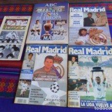 Coleccionismo deportivo: REVISTA REAL MADRID 70 92 103 CON PÓSTER. REGALO HISTORIA LAS 7 COPAS DE EUROPA VACÍO Y 1ª ENTREGA.. Lote 277589193