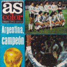 Coleccionismo deportivo: AS COLOR - Nº 371 / 27 DE JUNIO DE 1978 - ARGENTINA CAMPEÓN & EXTRA MUNDIAL-78. Lote 277623418