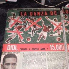 Coleccionismo deportivo: 2 RECORTES ARTÍCULO DIDI. REVISTA SEMANA 1184 DE 1962. Lote 278834878