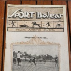 Coleccionismo deportivo: SPORT BALEAR. REVISTA QUINCENAL ILUSTRADA. PALMA DE MALLORCA, 1925. Lote 279384238