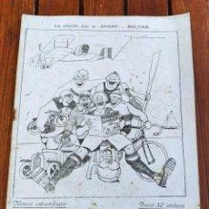 Coleccionismo deportivo: SPORT BALEAR. REVISTA QUINCENAL ILUSTRADA. PALMA DE MALLORCA, 1925. NÚMERO EXTRAORDINARIO.. Lote 279384648