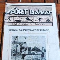 Coleccionismo deportivo: SPORT BALEAR. REVISTA QUINCENAL ILUSTRADA. PALMA DE MALLORCA, 1925. Lote 279401813