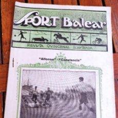 Coleccionismo deportivo: SPORT BALEAR. REVISTA QUINCENAL ILUSTRADA. PALMA DE MALLORCA, 1925. Lote 279402878