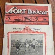 Coleccionismo deportivo: SPORT BALEAR. REVISTA QUINCENAL ILUSTRADA. PALMA DE MALLORCA, 1925. Lote 279403083