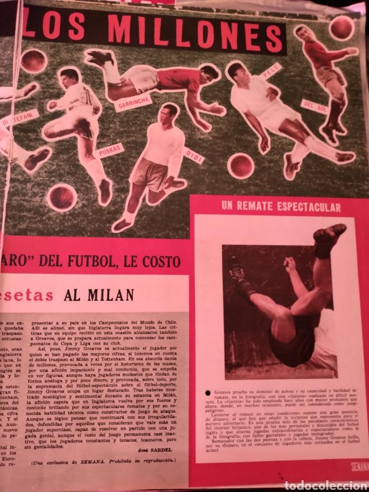 Coleccionismo deportivo: 2 hojas recortes artículo sobre Jimmy Geaves. Revista Semana 1160 de 1962 - Foto 2 - 279442243