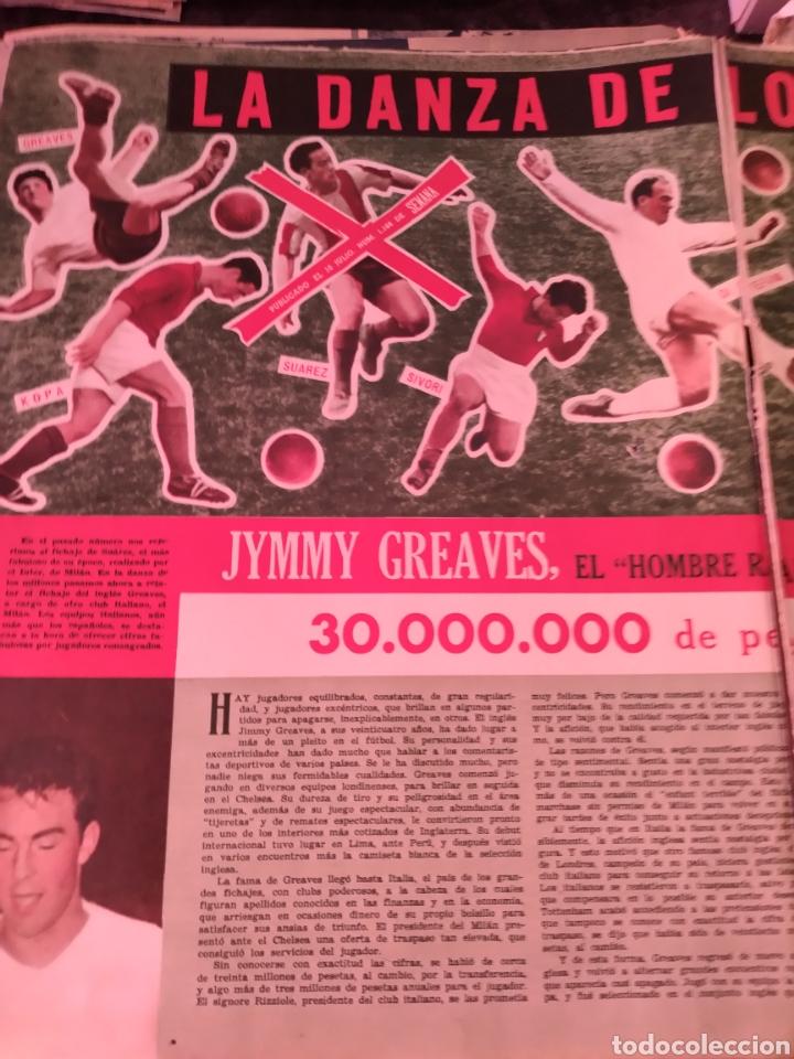 2 HOJAS RECORTES ARTÍCULO SOBRE JIMMY GEAVES. REVISTA SEMANA 1160 DE 1962 (Coleccionismo Deportivo - Revistas y Periódicos - otros Fútbol)