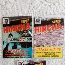 Coleccionismo deportivo: LOTE REVISTAS SUPER HINCHA HISTORIA ULTRAS SUR COMPLETO NÚMEROS 6, 7, 8 1993 1994. Lote 279443228