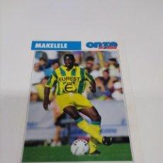 Coleccionismo deportivo: FICHA ONZE MONDIAL MAKELELE - NANTES.. Lote 279555353