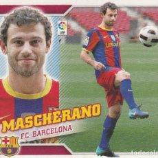 Coleccionismo deportivo: 2010 2011 ED.ESTE MASCHERANO FICHAJE 49 DEL F.C.BARCELONA. NUEVO. Lote 280118548