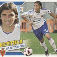 Coleccionismo deportivo: 2010 2011 ED.ESTE FICHAJE 37 BERTOLO DEL ZARAGOZA NUEVO. Lote 280119538