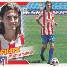 Coleccionismo deportivo: 2010 2011 ED.ESTE FICHAJE 19 FILIPE DEL ATLETICO DE MADRID. NUEVO. Lote 280120723