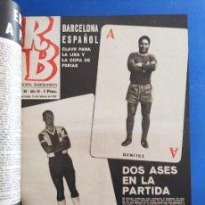 Coleccionismo deportivo: LOTE REVISTA BARCELONISTA 1967- 49 NÚMEROS RB (92-143) BARÇA FC BARCELONA TOMO LIGA COPA 66/67. Lote 281061688