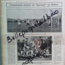 Colecionismo desportivo: ENERO 1911 PRIMER PARTIDO HISTORIA ATHLETIC BILBAO VS ATLETICO MADRID EN LAMIAKO!!! FÚTBOL FOOT-BALL. Lote 283303908