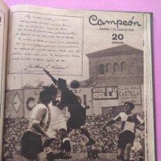 Coleccionismo deportivo: TOMO 37 REVISTA CAMPEON Nº 135-184 1935 1936 LIGA 35 36 VUELTA CICLISTA ESPAÑA - SEVILLA FC COPA. Lote 283970793