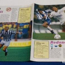 Coleccionismo deportivo: POSTER PUBLICIDAD REVISTA 4 DE LOS 50 DON BALON DE ORO ( REDONDO, VIALLI, BOKSIC, PANCEV ). Lote 284466793