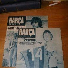 Coleccionismo deportivo: BARÇA 1973 DOS NUMEROS CONSECUTIVOS AGOSTO 1973 FICHAJES Y LLEGADA A BARCELONA CRUYFF Y SOTIL. Lote 286911363