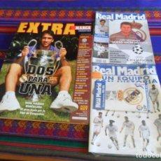 Coleccionismo deportivo: REVISTA REAL MADRID 92 104 PRECINTADO GUÍA MADRIDISTA 98 99. REGALO MARCA EXTRA CHAMPIONS LEAGUE 97. Lote 288039708