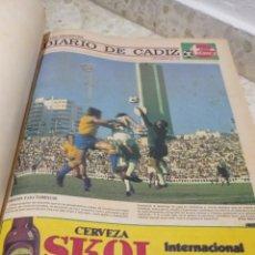 Coleccionismo deportivo: INCREIBLE COLECCION DEL DIARIO CADIZ DESDE EL 7 DE SEP DE 1976 AL 18 DE MAY DEL 78.NEGOCIABLE. Lote 288042198