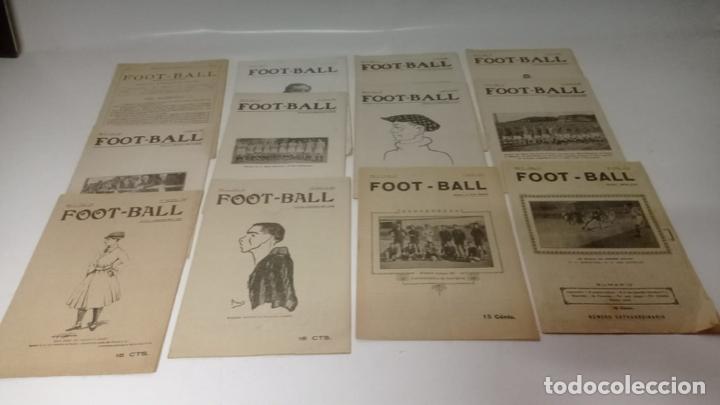 LOTE DE 12 REVISTAS DE FOOT-BALL - FUTBOL (Coleccionismo Deportivo - Revistas y Periódicos - otros Fútbol)