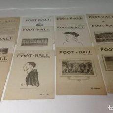 Coleccionismo deportivo: LOTE DE 12 REVISTAS DE FOOT-BALL - FUTBOL. Lote 288335248